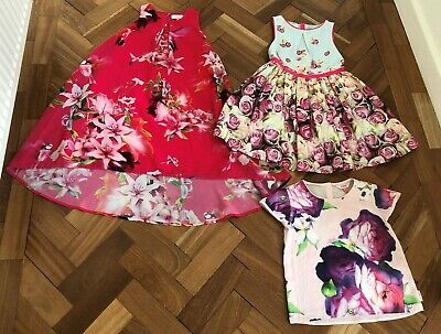 2 beautiful BAKER by TED BAKER dresses & 1 top 6-7y