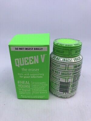 Queen V The Eraser Yeast Infection Boric Acid Treatment 14 Vaginal Suppositories