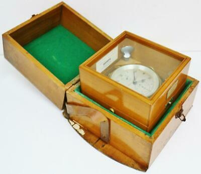 Antique English 2 Day Marine Chronometer Clock By Thomas Mercer Serial No 22350