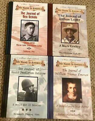 DEAR AMERICA My Name is AMERICA (4 hc books) Historical Fiction Journals BOYS