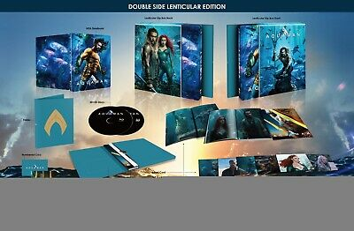 AQUAMAN Blu-ray Steelbook (2D+3D) Double Lenticular Slip HDZETA with Protector