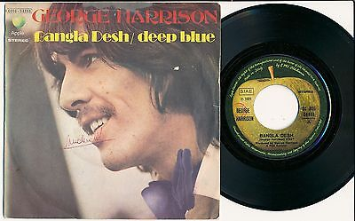 "George Harrison 45 Tours 7"" Italy Bangla Desh"