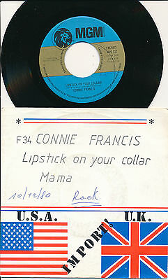 "Connie Francis 45 Tours 7"" Usa Mama"