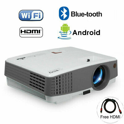 Portable Smart Android Bluetooth Projector 4000lms HD Home Cinema Movie Airplay