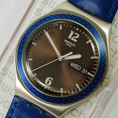 Swatch Irony New Djembe ygs774 Watch Blue Man Woman Rare Collectible Rare