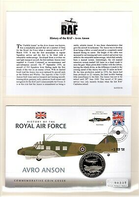 Westminster Coin Cover History of the RAF - Avro Anson