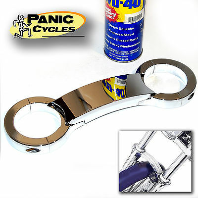 Chrome 49mm fork brace for Harley replaces 46959-06A