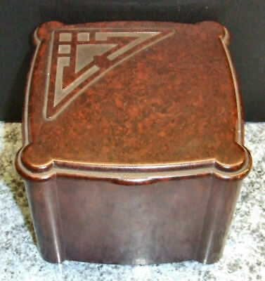 A Vintage Art Deco Era Bakelite Hinge Lidded Box