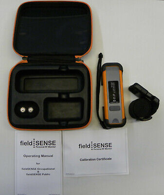 Field Sense FS2 Personal RF Monitor with Case, Instructions, Accessories