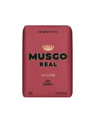 Claus Porto Musgo Real Mens Bath Shower Body Soap Spiced Citrus Scent 160g