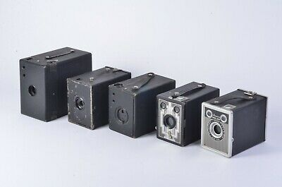 Bundle Of 5 Beautiful Vintage Box Cameras, Great For Any Collector (#10)