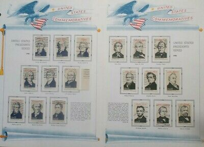 US Scott #2216-2219 Hard-to-Find Used Lot of Presidents on White Ace Pages