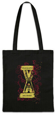 Our Blades Are Sharp Shopper Shopping Bag Game of House Bolton Symbol Thrones
