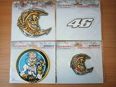 Lot de 4 patchs écussons brodés VALENTINO ROSSI 46 Grand Prix Moto GP