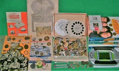 ESTATE JUNK DRAWER LOT *Seinfeld DVDs Jewelry COINS Viewmaster PINS Ephemera AND