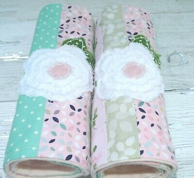 Baby Girl Burp Cloths ~Set Of Two~ French Roses, shabby Chic