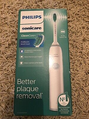 Philips Sonicare CleanCare+ Electric Toothbrush (UK 2-Pin Bathroom Plug) HX3214