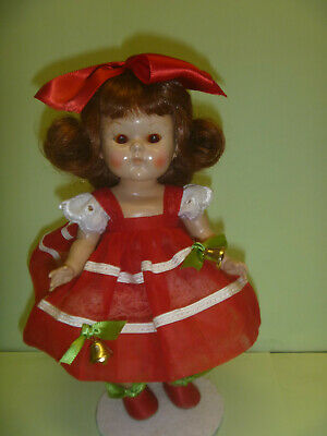 """vintage strung Vogue Ginny doll in """"Merry Lee"""" outfit"""