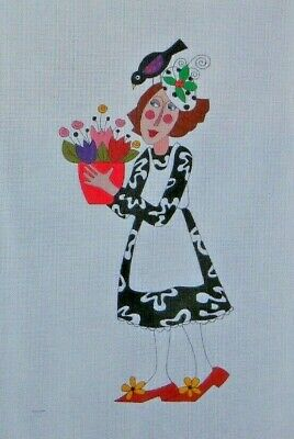 Mile High Princess PETUNIA PANSY HANDPAINTED NEEDLEPOINT CANVAS + GUIDE MHP 1627