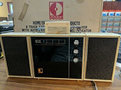 DECCA 8 TRACK TAPE  PLAYER  Model DTP-187 WORKING VG Condition