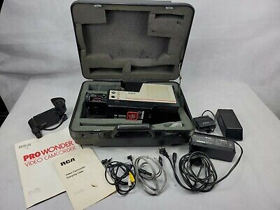 Rca Pro Edit Vhs Camcorder With Accessories In Hard Case Vintage 90 00 Picclick
