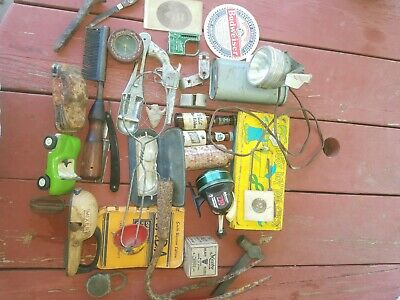 Large Vintage Antique Junk Drawer mix lot and More! Ship medium flat-rate.
