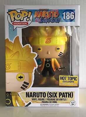 Funko POP Animation NARUTO SIX PATH #186 Glow In The Dark Hot Topic Exclusive 👍