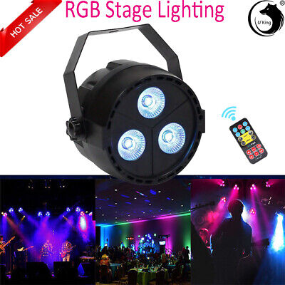 RGBP LED Par Wash Stage Light DMX512 Disco DJ Bar Party Wedding Light + Remote