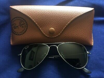 Vintage Unisex Original Ray-Ban Ray Ban RB3044 Aviator Sun Glasses w/ Case EX
