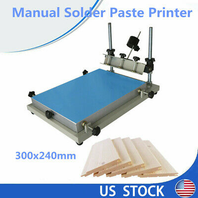 SMT Solder Paste Work Table Manual High Precision Stencil Printer 300x240mm us