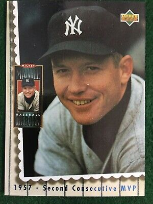 "1994 Upper Deck SP Mickey Mantle ""Heroes"" 1957 2nd Consecutive MVP Insert"