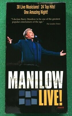 Barry Manilow: Manilow Live! VHS ++ FREE DVD