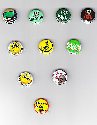 Lot de 10 pin's/badges monde football DIABLES ROUGES/RODE DUIVELS