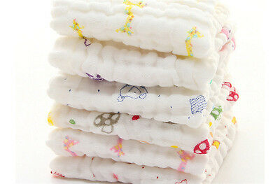 Cotton Gauze Towel Baby Towel Wash Cloth Handkerchiefs Feeding Saliva ToLD