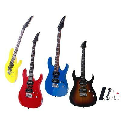 New 4 Colors Right Handed 6 Strings Basswood Practice Band Electric Guitar Set