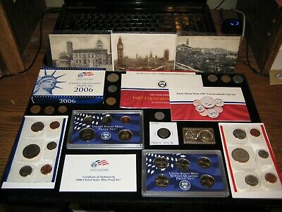 BIG Coin Lot Mint PROOF Set Lot WWII Steel Postcards Numistamp JUNK DRAWER