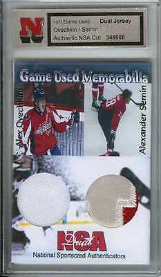 Alex Ovechkin Semin 1/1 Game Used Worn Jersey Patch Swatch Washington Capitals