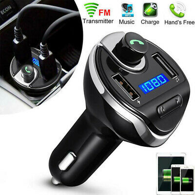 Bluetooth USB Quick Car Charger FM Transmitter Radio Adapter MP3 Player Charge