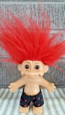 Vintage TROLL DOLL Russ red hair I love you,  Figure