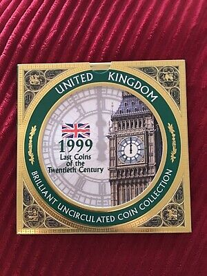 1999 UK Royal Mint Brilliant Uncirculated Coin Set Collection.