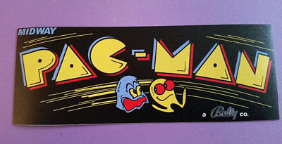 Pac Man Black marquee sticker. 3 x 8. (Buy any 3 of my stickers, GET ONE FREE!)