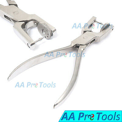 Heavy Duty 7'' Jewelry Rotatory 5 Hole Punch Pliers Metal Leather Sheets Tools