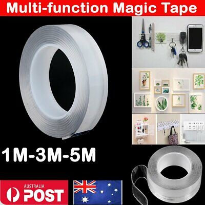 Multi-Function Nano Magic Tape Reusable Transparent Grip Tape Double Sided Craft