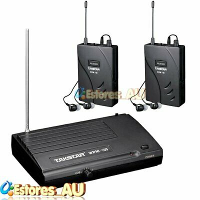【AU】TAKSTAR WPM-100 UHF 50m Wireless Monitor System Transmitter + 2x Receivers