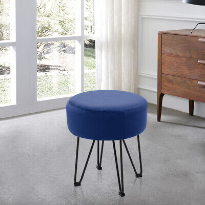 Incredible Velvet Round Pouffe Footstool Ottoman Vanity Dressing Table Andrewgaddart Wooden Chair Designs For Living Room Andrewgaddartcom