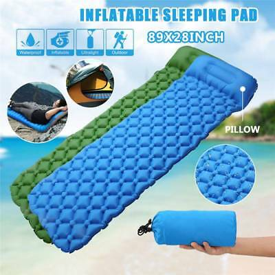 Ultralight Inflatable Camping Air Mattress Blow Up Bed Sleeping Mat Pad Pillow