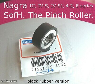Nagra Iii, Iv-S, Iv-Sj, 4.2, E @ One (1) New Pinch Roller W/ Skf Blk Rbr Version