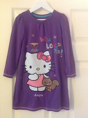 HELLO KITTY Girls Cute Nightdress fit age 6-7 Years personalised ANYA
