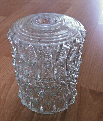 Textured Clear Glass Lampshade Light Hobnail Embossed Whitefriars Style Vintage