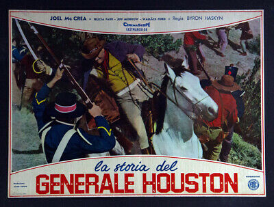 CINEMA-fotobusta-poster LA STORIA DEL GENERALE HOUSTON THE FIRST TEXAN haskin